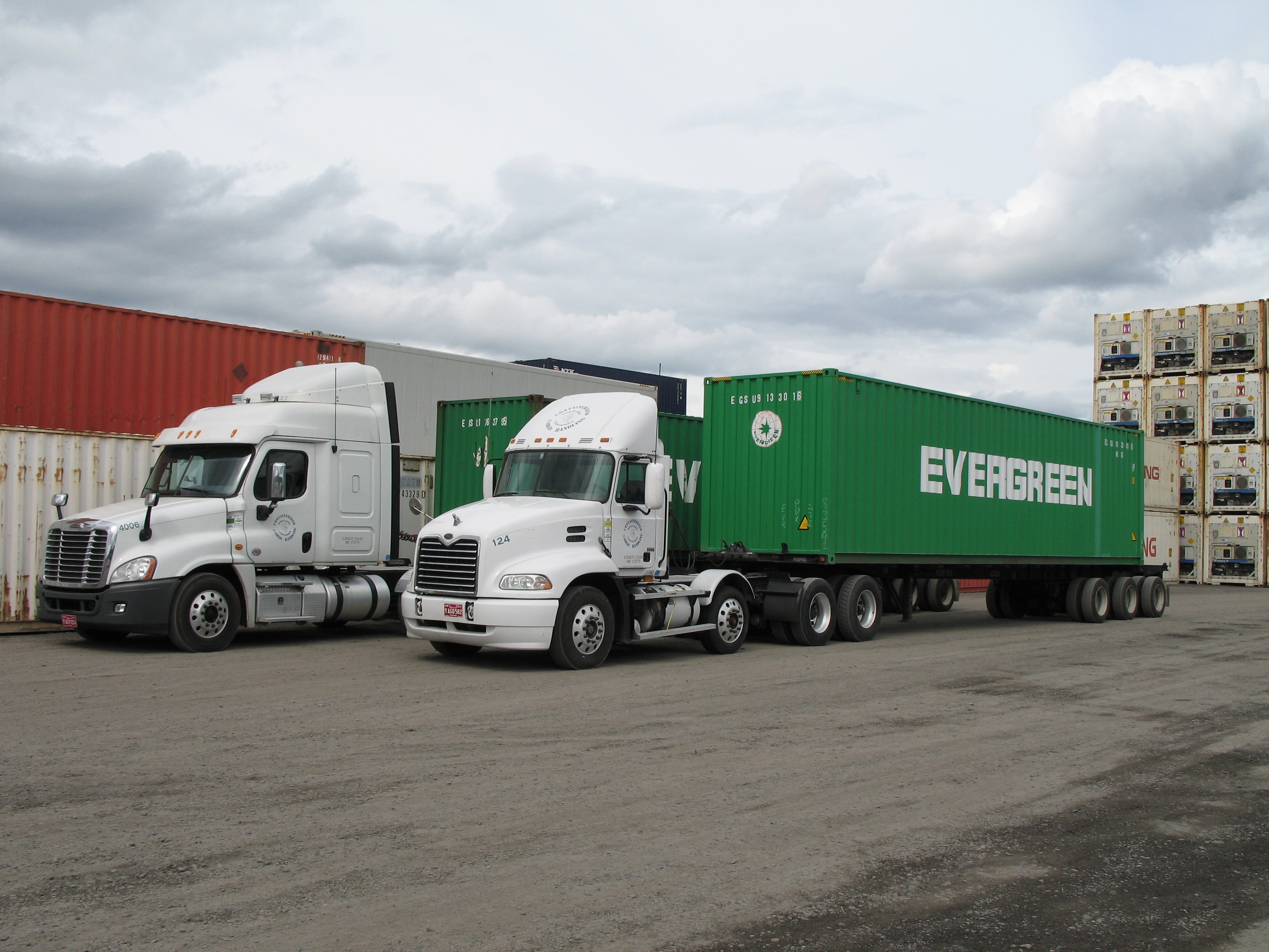 Trucks with Evergreen Boxes